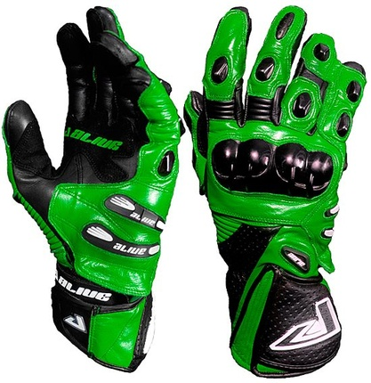 Motorbike Alive Racing Gloves (GREEN)