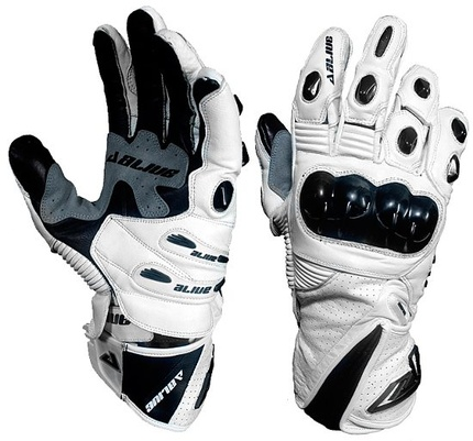 Motorbike Alive Racing Gloves (WHITE)