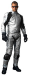 Grey Rider Suit Leather Two Pieces