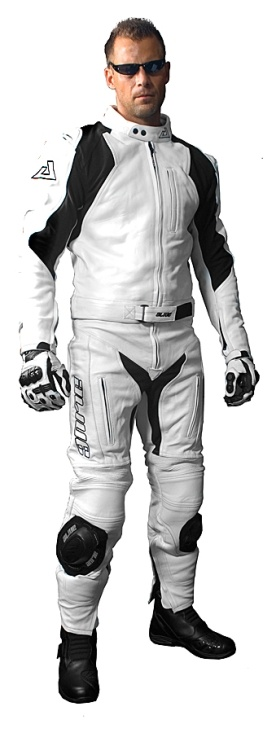 White Rider Suit        Leather   Two Pieces