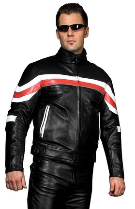 Titan Red Leather Jacket