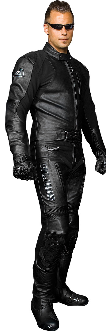 Black Rider Suit Leather Two Pieces